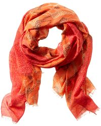 Banana Republic Heritage Giraffe Print Scarf Autumn Sunset - Lyst