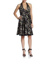 Diane Von Furstenberg Amelia Lace Halter Dress - Lyst