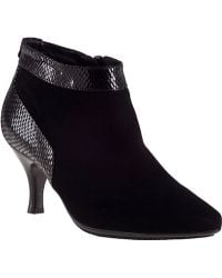 Aquatalia by Marvin K Max Ankle Boot Black Suede - Lyst