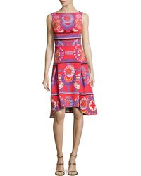 Peter Pilotto | Sleeveless Medallion-print Dress | Lyst