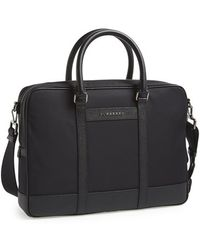 Burberry Men'S London 'Newburg' Nylon Laptop Briefcase - Black - Lyst