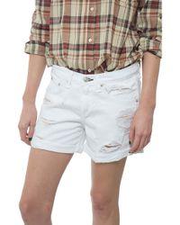 Rag & Bone/JEAN The Boyfriend Short white - Lyst