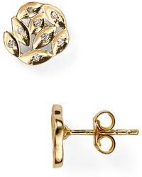 Melinda Maria - Shannon Pod Pave Stud Earrings - Lyst