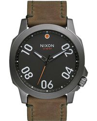 Nixon - Ranger 45 Leather Watch - Lyst