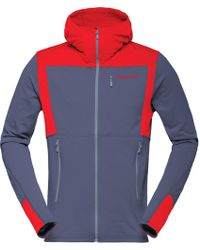 Norrøna - Falketind Warm1 Stretch Full-zip Hooded Fleece - Lyst