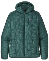 Patagonia Micro Puff Hooded Insulated Jacket - Green