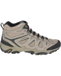 Merrell | Moab Fst Leather Mid Waterproof Hiking Boot | Lyst