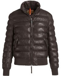 Parajumpers - Lucy Leather Insulated Jacket - Lyst