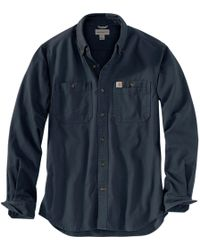 a03106155c Lyst - Carhartt Ironwood Twill Work Shirt Snap Front Relaxed Fit ...