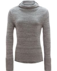 White + Warren - Bold Rib Funnelneck Sweater - Lyst