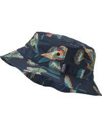 802a261cfea Lyst - Patagonia Wavefarer Bucket Hat in Blue for Men