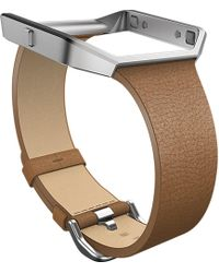 Fitbit - Blaze Leather Accessory Band - Lyst