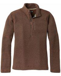 Smartwool Hudson Trail Fleece 1/2 Zip Sweater - Brown