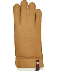 cb4cb5761 UGG Tenney Sheepskin And Leather Gloves in Brown - Lyst