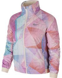 6683ebdc06e3 Lyst - Nike Pink Tech Shield Fabric Jacket in Pink