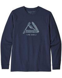 Patagonia - Live Simply Pocketknife Responsibili-t-shirt - Lyst