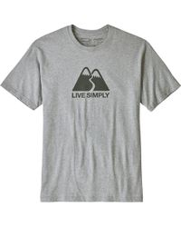 Patagonia - Live Simply Winding Responsibili-t-shirt - Lyst