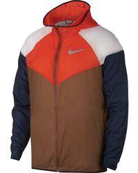 8dd5050c03 Lyst - Nike Tech Fleece Windrunner Full Zip Running Jacket in Yellow ...