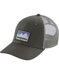 Lyst - Patagonia Shop Sticker Patch Lopro Trucker Hat in White for Men a43501716870