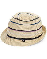 Block Headwear - Striped Fedora - Lyst