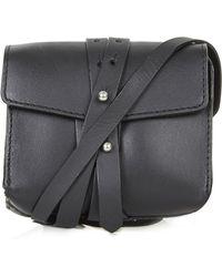 Topshop Womens Structured Leather Belt Bag  Black - Lyst