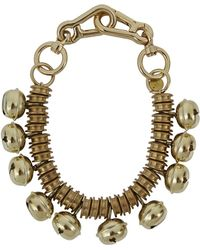 Moxham - Roma Bell Embellished Gold Plated Necklace - Lyst