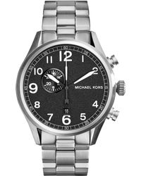 Michael Kors Mens Chronograph Hangar Stainless Steel Bracelet Watch 45mm - Lyst