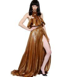 Daniele Carlotta Lurex Ruffle Dress - Lyst