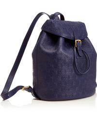 Liberty - Navy Iphis Leather Kingly Backpack - Lyst