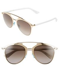 Dior Women'S 'Reflected' 52Mm Sunglasses - Rose Gold - Lyst