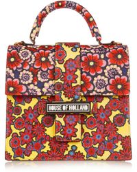 House of Holland | Lady H Printed Textured-Leather Shoulder Bag | Lyst