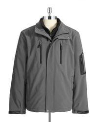 Calvin Klein Fleece Lined Pant Coat gray - Lyst
