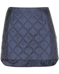 Miu Miu Quilted Mini Skirt - Lyst