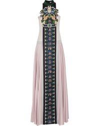 Mary Katrantzou Stepa Embellished Wool Gown - Lyst