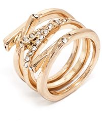 Baublebar Pavé Branch Ring Set - Lyst