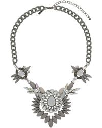 Topshop Stone Collar - Lyst