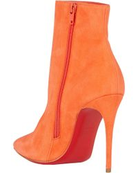 Christian Louboutin Suede So Kate Ankle Booties - Lyst