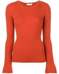Tory Burch - Liv Rib-knit Wool Jumper - Lyst