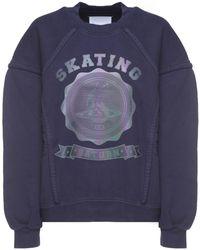 Maison Margiela - Navy Skating Saturn Sweatshirt - Lyst