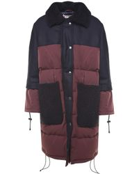 Marni - Shearling And Wool-trimmed Rainproof Duvet Jacket - Lyst