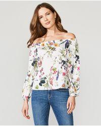 a0f36525dd2b8 Lyst - Bailey 44 Tarte Tatin Floral Off-the-shoulder Top