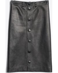 220a56e89b Balenciaga - Snapped Skirt Leather - Lyst