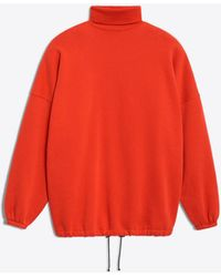 Balenciaga - Oversized Red Sweatshirt - Lyst