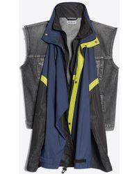 Balenciaga - Double Parka Denim Jacket - Lyst