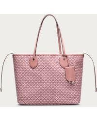 Bally - Bernina Medium Women ́s Medium Canvas Tote Bag In Rosehaze & Dusty Pink - Lyst