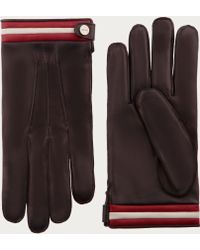 Bally - Nappa Leather Gloves Men's Leather Gloves In Brown - Lyst