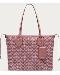 Bally - Bernina Small Women ́s Small Canvas Tote Bag In Rosehaze & Dusty Pink - Lyst