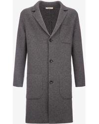 Bally - Knitted Wool & Cashmere Coat - Lyst