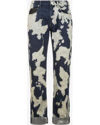Bally - Printed Denim Jeans - Lyst