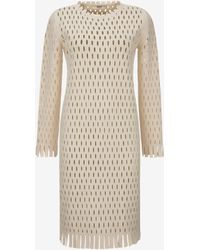 Bally - Perforated Long Sleeved Dress - Lyst